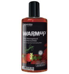 Masážny olej so zohrievacím účinkom - jahodový (150 ml)