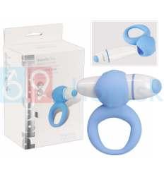 Modrý vibračný krúžok na penis PlayCandi Ring Pop