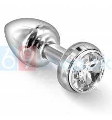 DIOGOL - ANNIXITTING VIBRATING BUTT PLUG SILVER 34MM