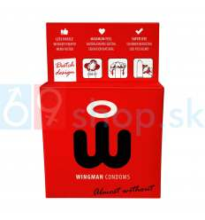 Wingman prezervatívy nasadíte jednou rukou 3ks