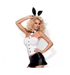Neposlušný zajačik kostým čierno-biely