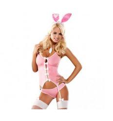 Ružový kostým zajačik Obsessive Bunny Suit Costume