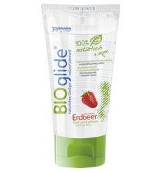 Bio lubrikačný gel BIOglide jahoda 80 ml