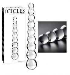 Icicles - guličkové sklené dildo