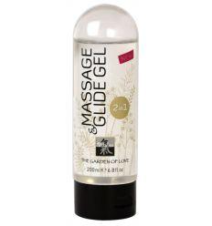 Shiatsu 2v1 masážny lubrikant (200 ml)