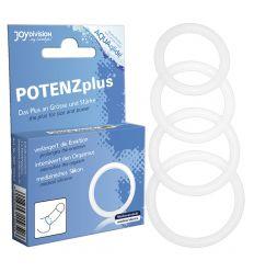 POTENZplus priesvitný krúžok na penis - S (3,5 cm)