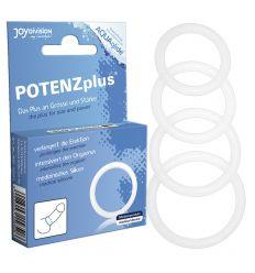 POTENZplus priesvitný krúžok na penis - M (4 cm)