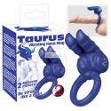 Taurus - dvojmotorová sada krúžkov na penis (modrá)