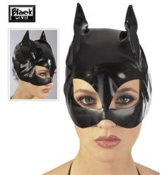 Laková mačacia maska