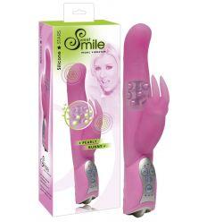 SMILE Pearly Bunny - perličkový vibrátor (ružový)