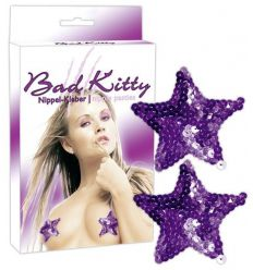 Bad Kitty - ozdoba na bradavky - fialová hviezda