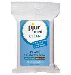 Pjur med Clean čistiace utierky 25 ks