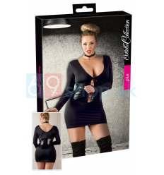 Čierne mini šaty pre dominu XL - 4XL