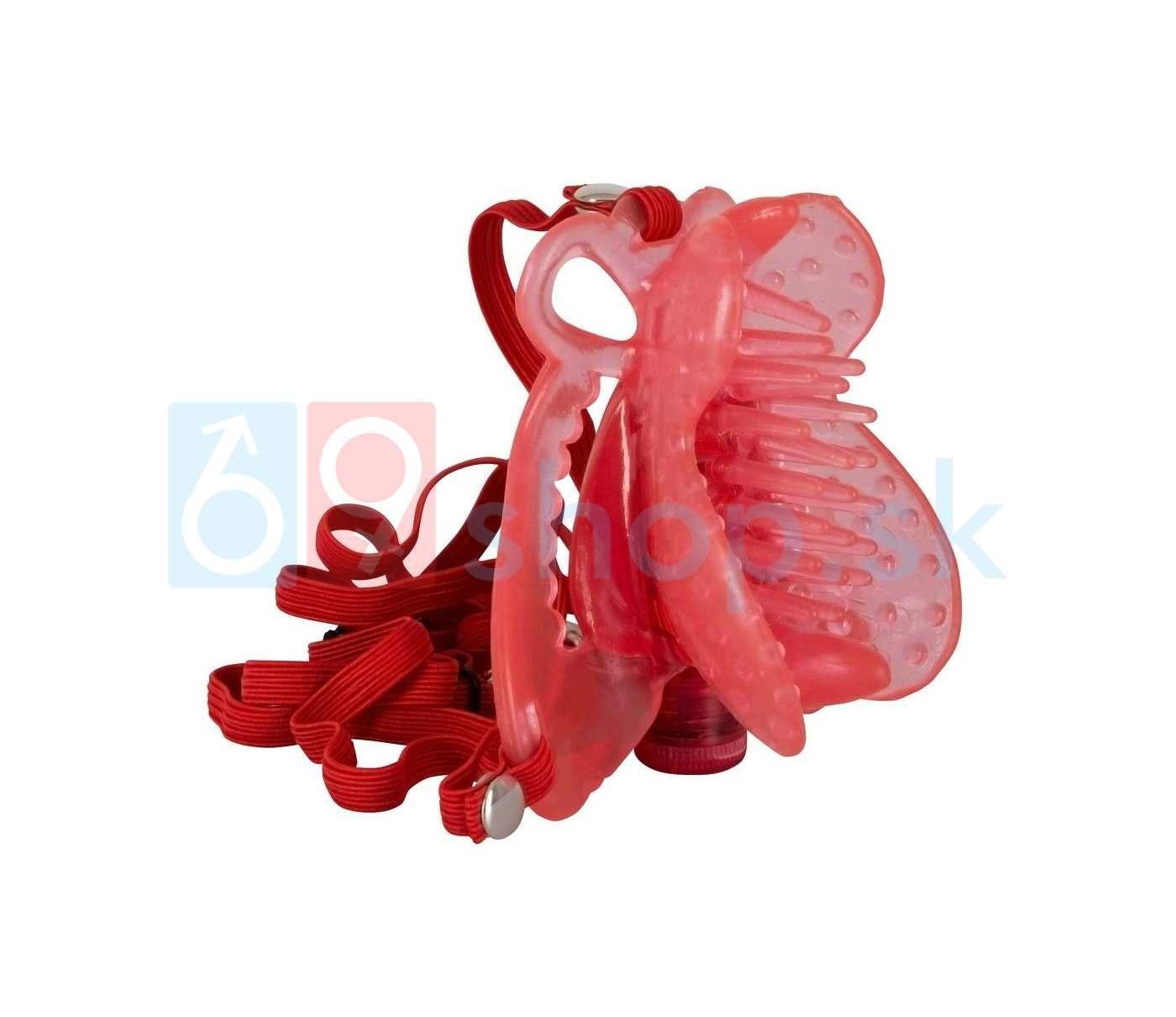 Vibrátor na klitoris v tvare motýlika