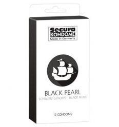 Kondómy SECURA čierne 12 ks