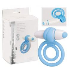 Vibrujúci krúžok na penis a semenníky PlayCandi Lollipop modrý