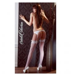 Pančuchy s čipkou Stockings white 4