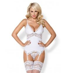 Erotický set Obsessive 810-COR-2 Lace-up Garter Top and Thong