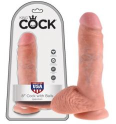 King Cock 8 dildo so semenníkmy 20cm