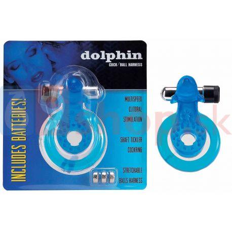 Dolphin blue erekčný krúžok