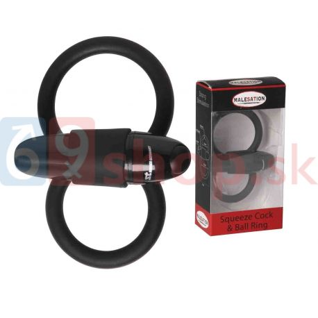 MALESATION Squeeze Cock Ball Ring 31508