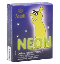 AMOR - kondóm svietiaci v tme (2 ks)